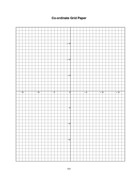printable graph paper with coordinate plane 8 best images of blank coordinate plane worksheets