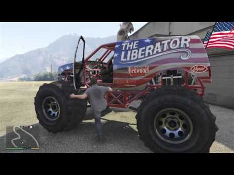 how to spawn a liberator (monster truck) on gta 5 story
