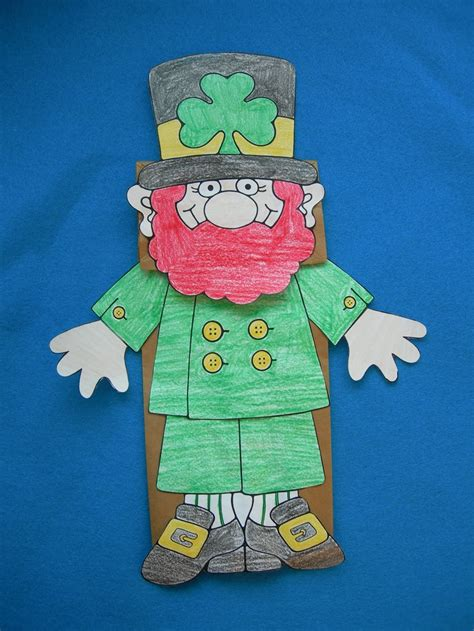 leprechaun paper craft 17 best images about st s day activities on