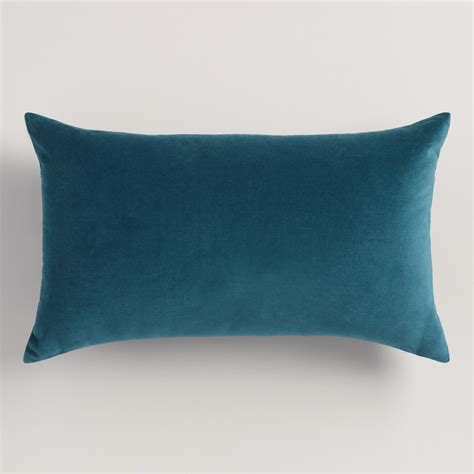 Blue Lumbar Pillow by Midnight Blue Velvet Lumbar Pillow World Market