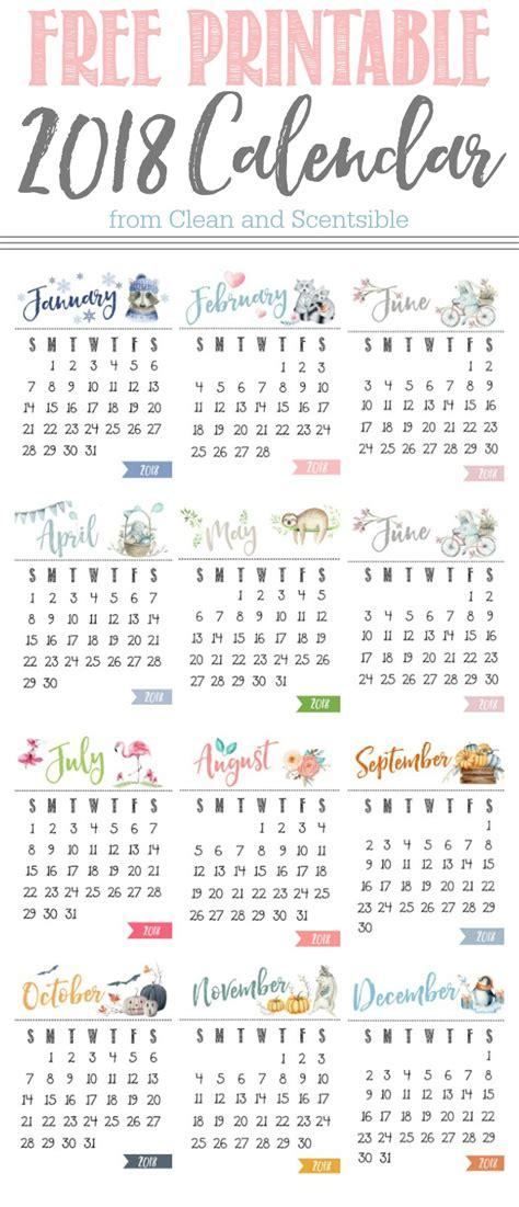 2018 calendar printable calendar 2018 calendar in