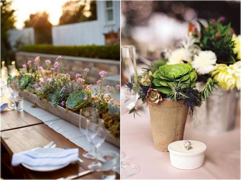 wedding trend 7 ways to use succulent plants in your