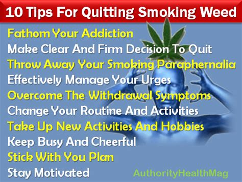 Tips To Detox And Stop Marijuana by How To Quit 10 Tips For Quitting