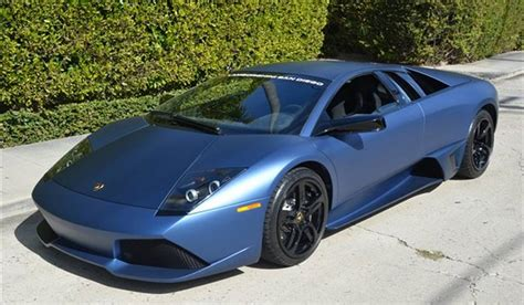 Blue Lamborghini Price For Sale Ad Personam Matte Blue 2009 Lamborghini