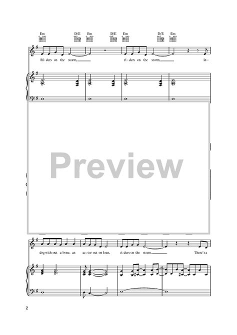 tutorial piano riders on the storm riders on the storm sheet music music for piano and more