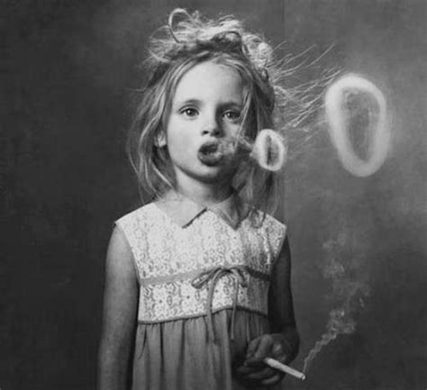 very young little girls smoking little girl blowing smoke bubbles a new kind of vintage