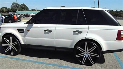white range rover rims white range rovers on 26 quot lexani wheels at stuntma