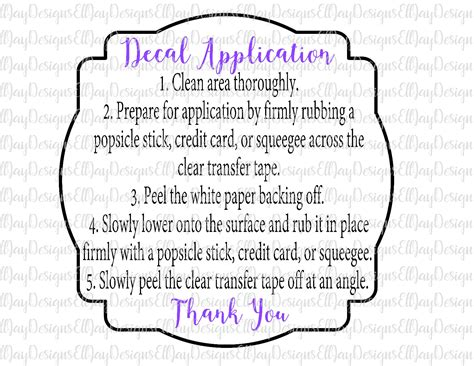 cricut printable vinyl instructions care card bundle htv wash instructions decal application