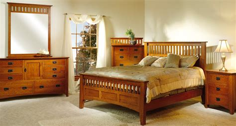 Mission Antique Bedroom Set Mary Jane S Solid Oak Furniture Bunk Bed Dresser Set