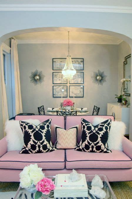 black and pink living room pink and black living room home decore pinterest