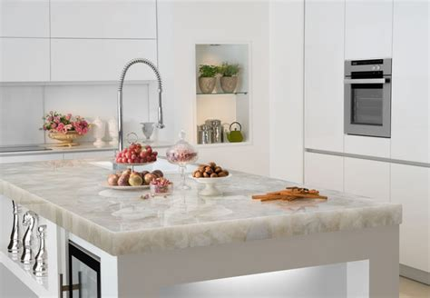 White Quartz Kitchen Countertops White Quartz Countertop Contemporary Miami By Marble