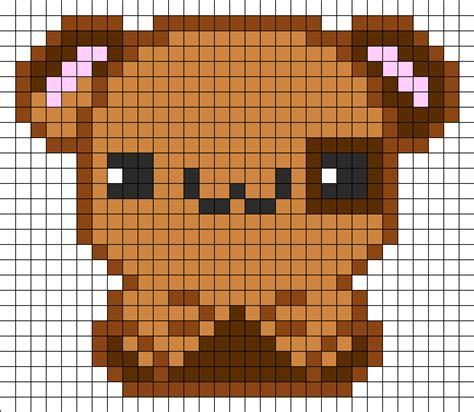 kawaii perler bead patterns kawaii hamster perler bead pattern bead sprites