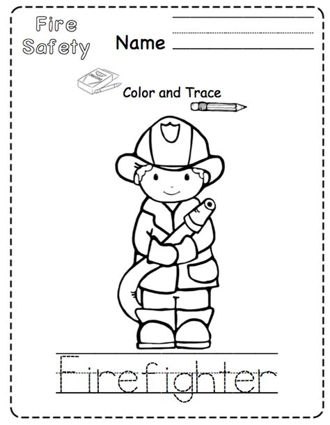 preschool printables fire safety for toddler s no prep