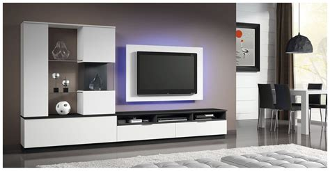 mueble tv moderno de madera lacado eli  baixmoduls