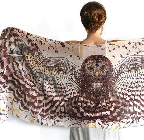 Pashmina Tribal Line owl wings scarf owl gifts bird wings scarf owl wings large shawl tribal scarf sarong wrap