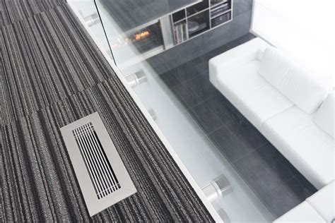 modern floor registers floor grilles brushed chrome