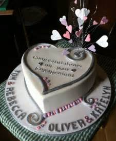 Engagement Home Decorating Ideas Heart Double Engagement Cake Flickr Photo Sharing