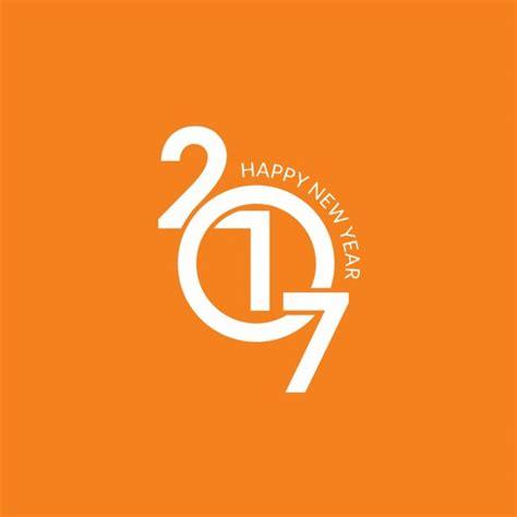 new year orange picture new year 2017 orange background vector free