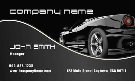 car dealer business card template stylish black corvette automotive business card design