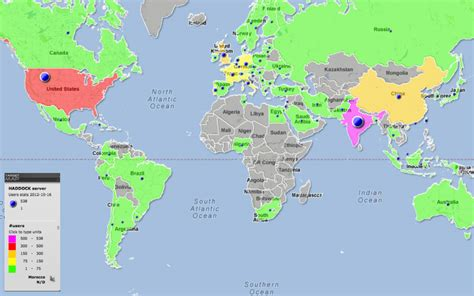 October 2012 Mapping Worlds | world map of haddock web server user map october 16th