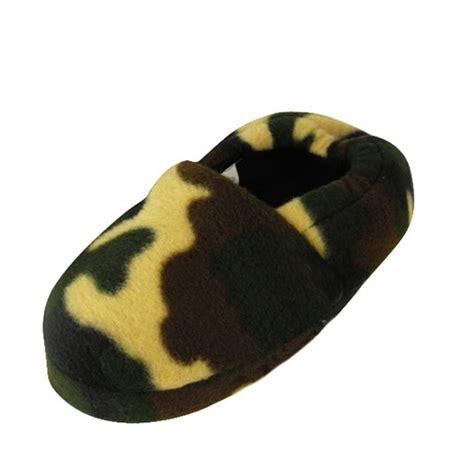 boys camo slippers new boys camouflage childrens slipper quality camo