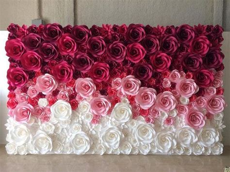 How To Make Paper Flowers For Wall - large paper flowers paper flower backdrop paper