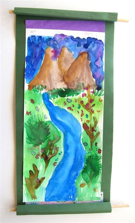 Landscape Projects For Elementary Landscape Scroll Paintings For 3rd Grade