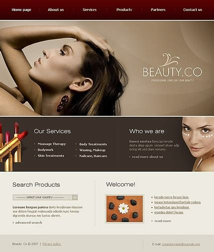 Template 17391 Tanning Salon Website Templates