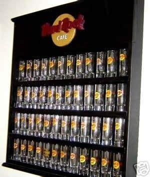 hard rock cafe shooter shot glass display case rack
