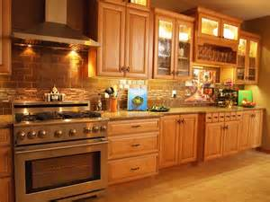 Oak Cabinets Kitchen Ideas kitchen kitchen backsplash ideas with oak cabinets fence closet
