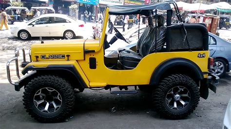 classic jeep modified amazing mahindra classic jeep 4x4 modified in yellow color