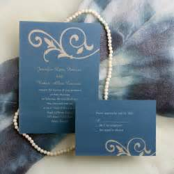 simple floral blue wedding invitations ewi033 as low as 0 94