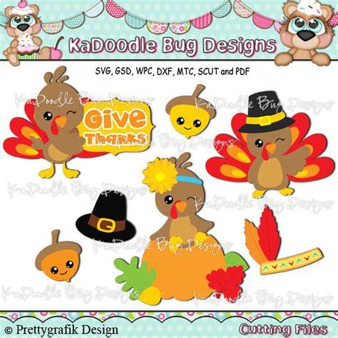 ka doodlebug designs thanksgiving kadoodle bug designs cut files digi