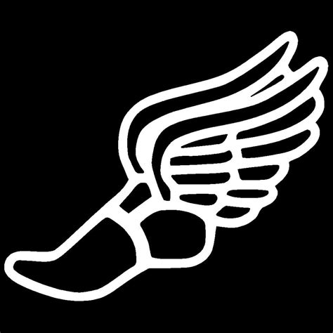 track and field track shoes with wings clipart best