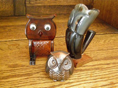 Owl Desk Accessories Vintage Owl Desk Accessories
