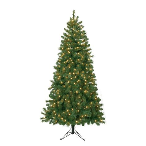 6 5 ft pre lit corner pine artificial christmas tree with