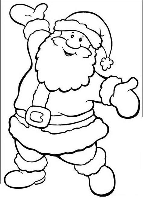 imagenes de santa claus en blanco y negro pap 225 noel para colorear y pintar colorea el dibujos