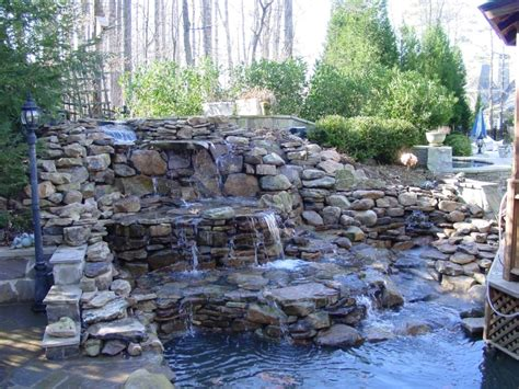 Waterfall Ideas For Backyard Backyard Pond Ideas With Waterfall Outdoor Furniture Design And Ideas