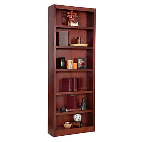 concepts in wood bookcase 6 shelves cherry by office depot