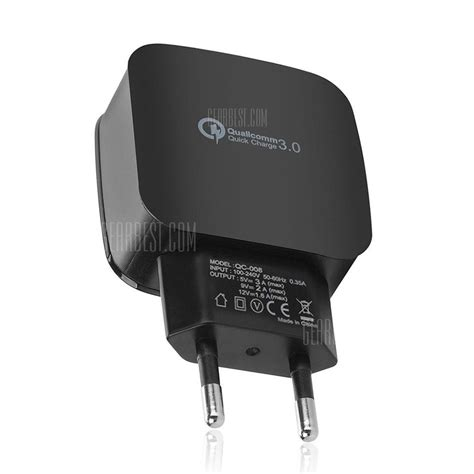 Ac 2503 Black qc 3 0 5v 3a charge eu usb charger usb wall charger 4 49 free shipping gearbest