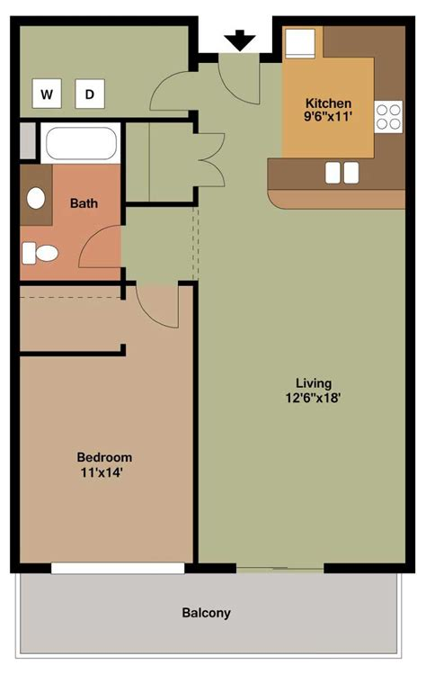floor plan for 1 bedroom apartment floor plan style d the overlook on prospect