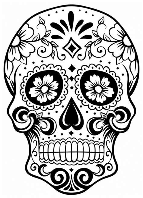 skull face coloring page sugar skull coloring pages print sugar skull coloring