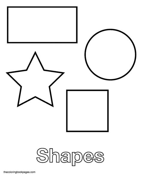 shape coloring pages coloring pages of basic shapes