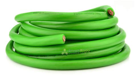 25 ft green ofc true 1 0 0 awg wire cable audio