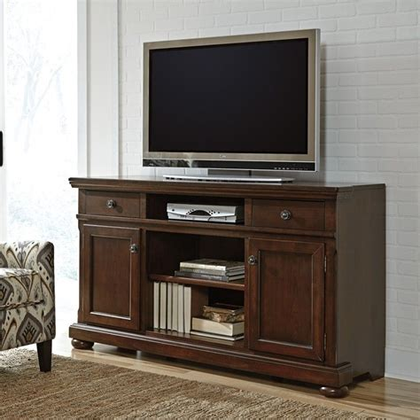 signature design  ashley furniture porter  tv stand  brown