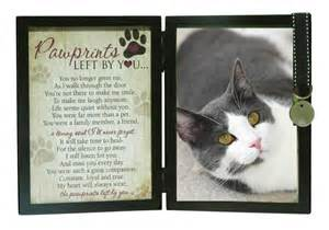 Comforting Quotes About Death Of A Dog Sympathy For Cat Loss Pawprints Memorial Cat Frame