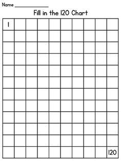 printable blank hundreds chart to 120 120 chart fill in puzzle fun 120 chart chart and maths