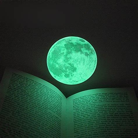 Wall Sticker Glow In The Xk012 30cm large moon glow in the luminous diy wall sticker