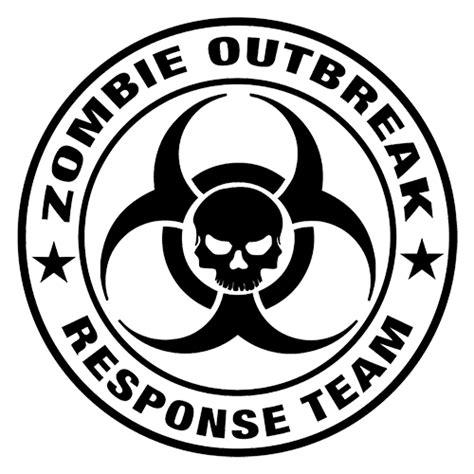 Outbreak Team outbreak response team die cut vinyl decal pv683