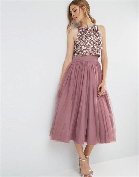 68 best my style images on pinterest dress skirt asos cluster embellished mesh crop top midi dress